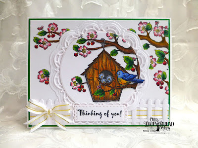 Our Daily Bread Designs Stamp Set: Birdhouse, Our Daily Bread Designs Custom Dies:Doily, Circle Ornament,  Double Stitched Rectangles,Filigree Frames, Fence