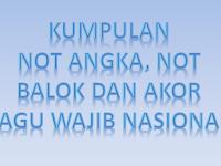 Koleksi Lagu Wajib Nasional Disertai Not Balok, Not Angka Dan Akor
