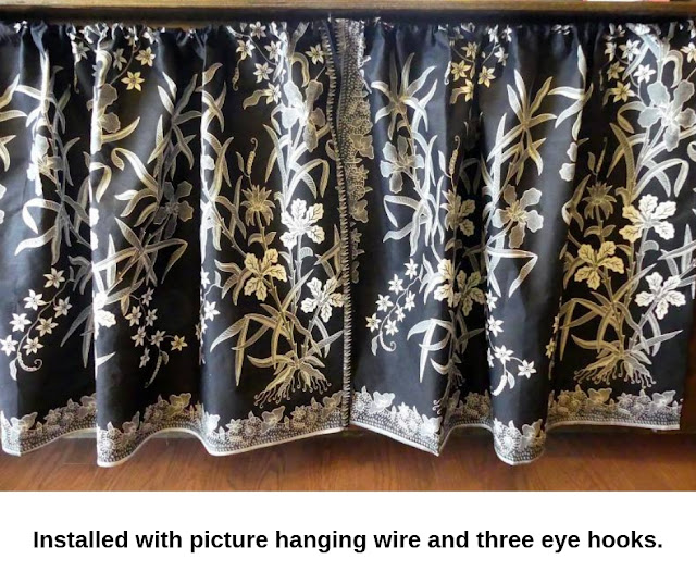 DIY Shelf Drapes by Minaz Jantz