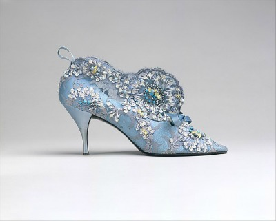 Blue House of Dior by Roger Vivier Evening Boots 1957