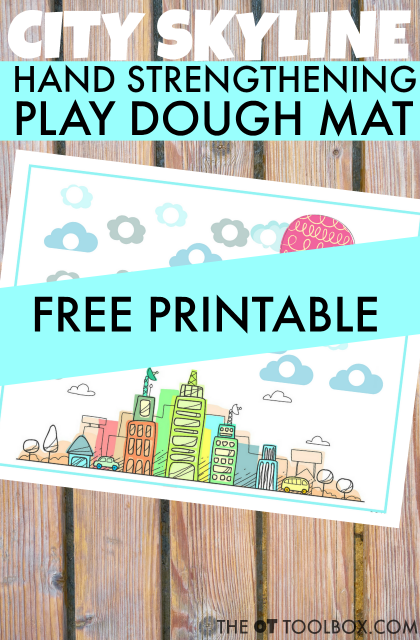 Kids can use this city play dough mat to increase hand strength for fine motor skills like handwriting and pencil grasp all with play dough activities kids love!