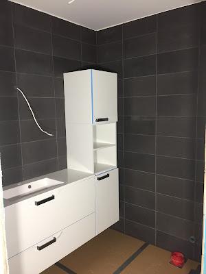 mustavalkoinen wc, mustavalkoinen vessa, Puustelli wc kalusteet, wc:n kalusteet, valkoiset wc kalusteet