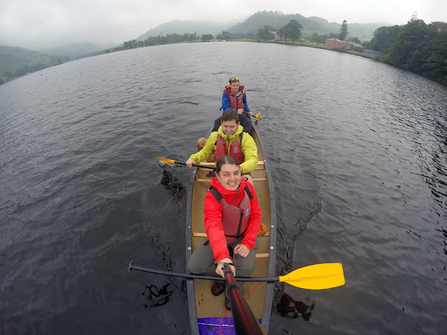 Canoe, canoeing, kayak, Ullswater, Glenridding, Lake District, Helvellyn, explore, adventure, mountains, fresh water, UK, England, Visit England, glenridding sailing club, sailing, dog on canoe, Canadian canoe, rent a canoe, How easy is it to canoe.