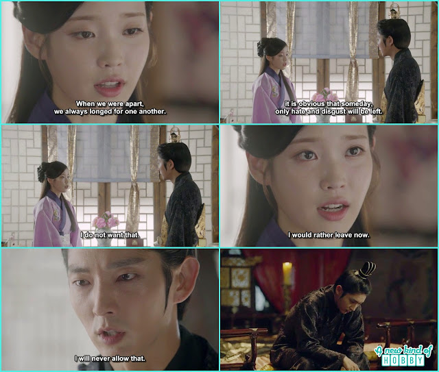 hae so then told king wang so i want to leave the palace now but wang so didn't allow her - Moon Lovers Scarlet Heart Ryeo - Episode 19 (eng sub)