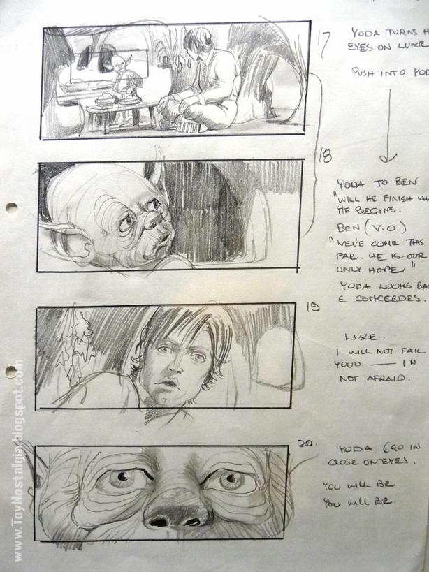 """Story Board Dagobah. Escenas Hogar de Yoda   """"Episodio V - The Empire Strikes Back""""  (STAR WARS - The Exhibition)"""