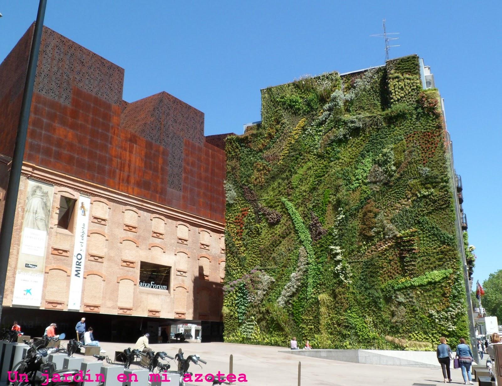 Un jard n en mi azotea un jard n vertical en el paseo del for Jardin vertical caixaforum