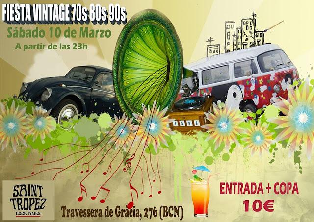 Flyer Fiesta Vintage 70s 80s 90s