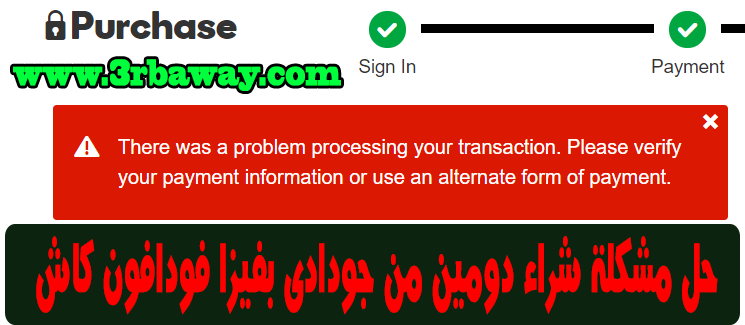 Solve the problem of buying a domain from Godaddy Visa Vodafone Cash