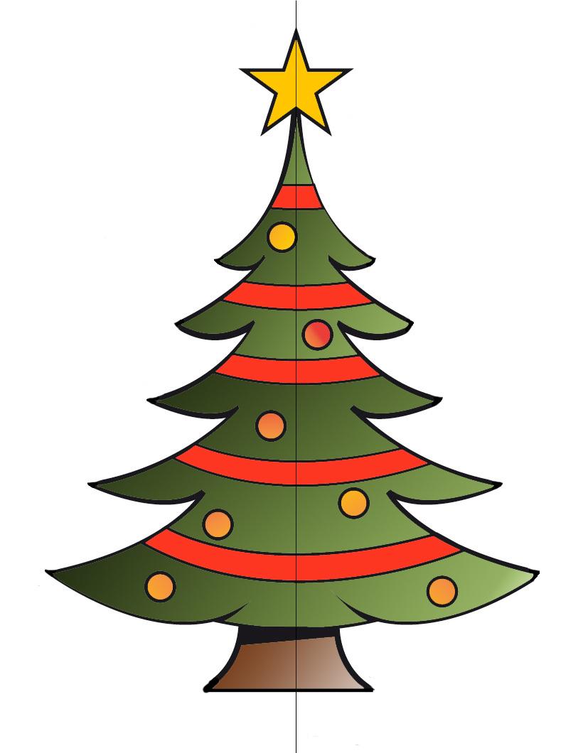 Dibujos Coloreados De Arboles De Navidad Navidad 2018