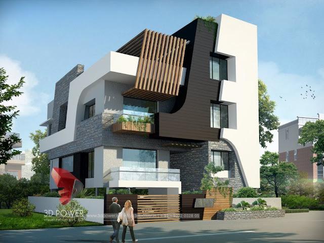best bungalow construction plans. Best House And Apartment Designs  Bungalow 3D Rendering Day View 3d animation rendering walkthrough interior cut