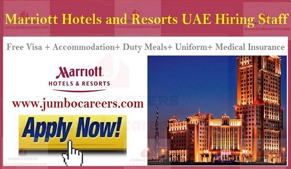 Marriott Hotels & Resorts UAE Careers, latest job openings in UAE,
