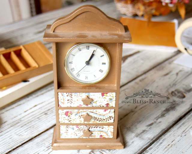 Dollhouse Upcycle, Clock to Dresser, Bliss-Ranch.com