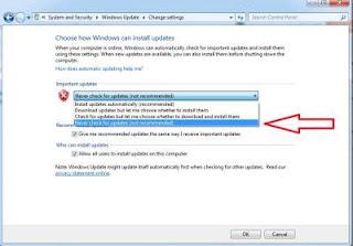 Langkah ketiga menonaktifkan automatic windows update