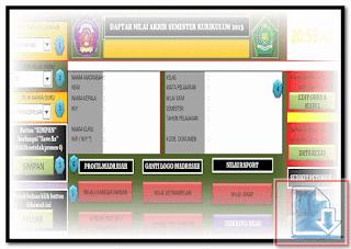 Aplikasi Daftar Nilai Kurikulum 2013 Full Kurtilas