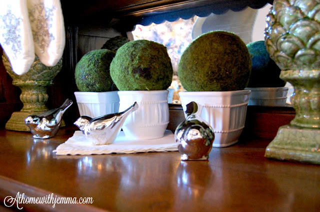 silver-birds-white-stoneware-moss-balls-decorate-Christmas-jemma