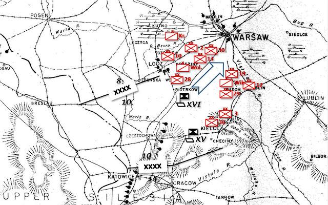 Η κατάσταση στον τομέα της 10ης Στρατιάς την 6η Σεπτεμβρίου
