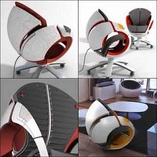 diseño de silla futuristas