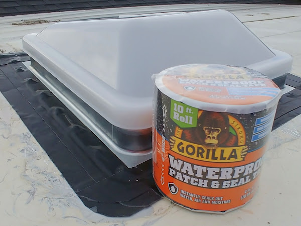 How to Replace an RV Roof Vent with Gorilla Glue Waterproof Patch and Seal and a Giveaway!