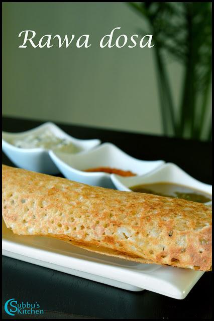 Rawa(Sooji/Semolina) Dosai | Restaurant Style Crispy Rava Dosa Recipe