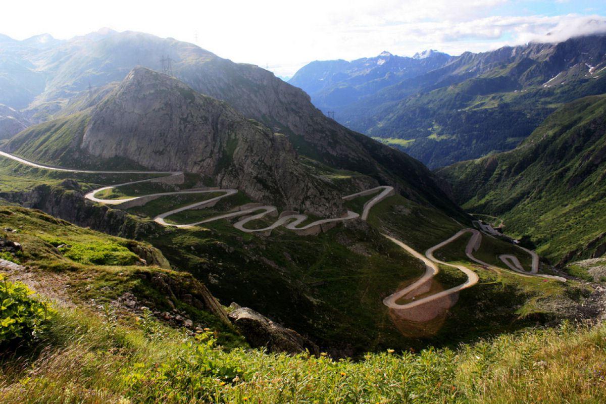 St. Gotthard Pass, Alpes, entre Itália e Suíça