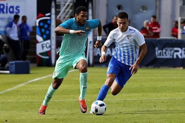 El Málaga Juvenil cae en la Copa de Campeones contra el Barça (0-4)