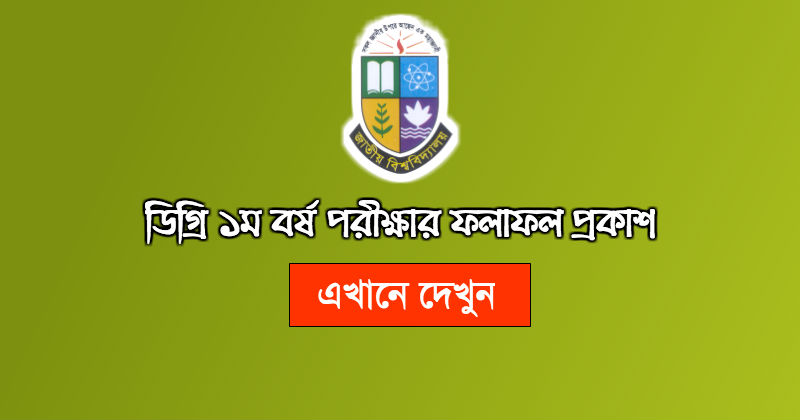 Degree 1st year result 2017