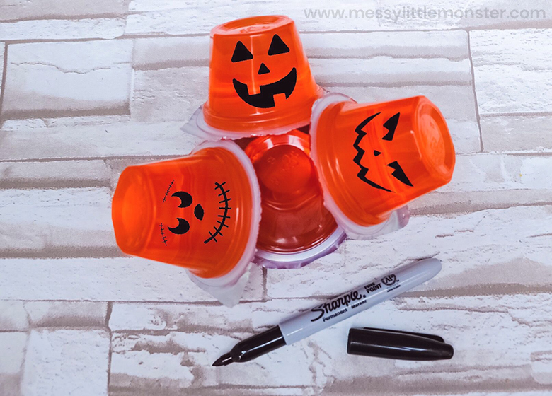 Easy halloween snack and pumpkin craft for preschoolers
