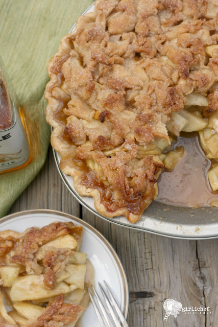 Whiskey Caramel Apple Pie