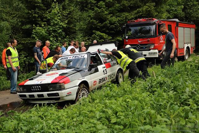 Rajd - Walimskie Lato - Wypadek Audi 90 Quattro