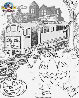 Halloween Coloring Pages By Number 6