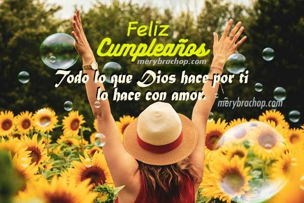 frases cristianas de cumpleaños para mi amiga con linda tarjeta imagen por Mery Bracho