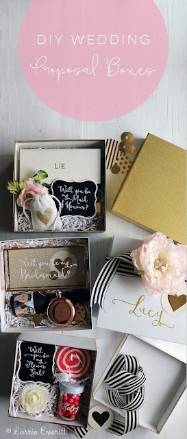 diy wedding proposal boxes | Lorrie Everitt Studio