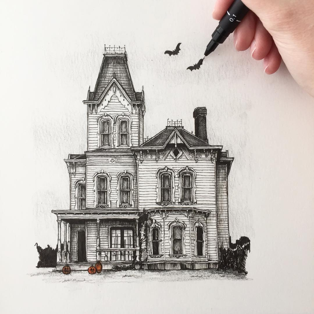 05-Victorian-House-Phoebe-Atkey-Urban-Sketcher-Architectural-Building-Drawings-www-designstack-co