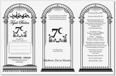 Download Undangan Walimatul Khamli atau 7 bulan bentuk 3 kolom gratis