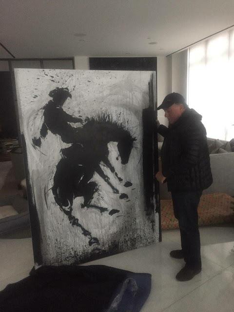 Shipping a large painting by Richard Hambleton