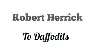 "In his poem   'To Daffodils', Robert Herrick has used many similes in order to convey his ideas.  A  simile is an explicit comparison between two different things.  It clearly states the similarity existing between two unlike things using such words as like,  so,  as,  as-so,  such,  similarly,  as if etc. Robert Herrick has compared the daffodils with the human beings.  He says in this poem,                                             We have short time to stay, as you'.           He wants to reveal the idea that like the short life of the  daffodils, human beings also have a short span of time on earth. He uses another simile to make a comparison between the spring and the human beings; he says,                      ""We have as short as spring"".            Here the poet has compared the youth period of human life with that of the spring season;  it is the most pleasant and beautiful season but it only remains for a short span of time.  The daffodils have a short spring and die very soon. Men have also very short youth and die very soon.            The poet further says that human life is as short as ""the summer's rain""  and  ""as the pearls of morning's dew""  which vanish away and never return again.            The poet has used imagery in this poem to convey his ideas. Imagery refers to the making of pictures in words, the pictorial quality of a literary work achieved through a collection of images. Imagery evokes a complex of emotional suggestions and communicates mood, tone and meaning. An image refers to something that can be achieved through the senses_ sight, hearing, smell, touch etc. An image can be a symbol. The poet has used images like ""Fair daffodils"", ""summer's rain"" and ""pearls of  morning's dew"" and thus he has compared their lifespan with that of the human beings. Through these images the poet wants to reveal the idea that the daffodils, summer's rain and pearls of morning's dew pass away too early and human beings also do the same. The images  ""Fair daffodils"" and ""pearls of morning's dew"" also produce an idea of beauty that is not everlasting, something that is to be ruined. The poet wants to express the thought that life is short and beauty is transient.          Another technique which the poet has used in the poem to express his thoughts is symbolism.  Symbolism refers to the conscious and artful use of symbols, objects, actions, or character meant to be taken both literally and as representative of some higher, more complex and abstract significance that lies beyond ordinary meaning. Symbol is usually something   _ an object, a place, a character or an action – that stands for or suggests something eled. The poet has symbolized the short lifespan of human beings through revealing the short existence of the  ""Fair daffodils"".  In the line ""We have as short a spring"", the 'spring'  symbolises the youth period of human life The poet has used an image ""hasting day""  concerning the movement and time;  here 'day'  becomes a symbol for life time;  it hastes towards death."