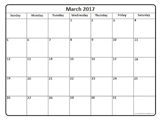 Free Printable Calendar March 2017