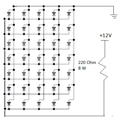 12 Volt Led Resistor Diagram LED Dimmable Ballast Wiring