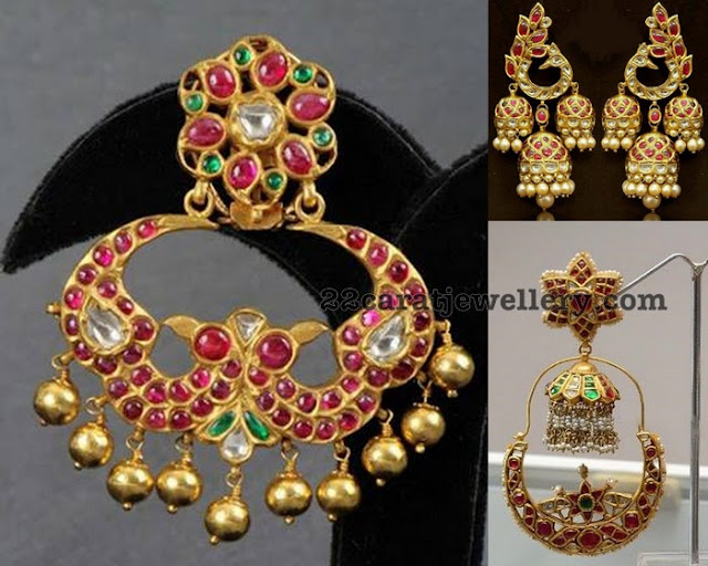 Tremendous Chandbalis with Rubies