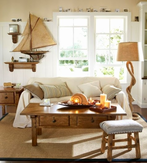 Coastal Nautical Living Room Decor Ideas From Pottery Barn