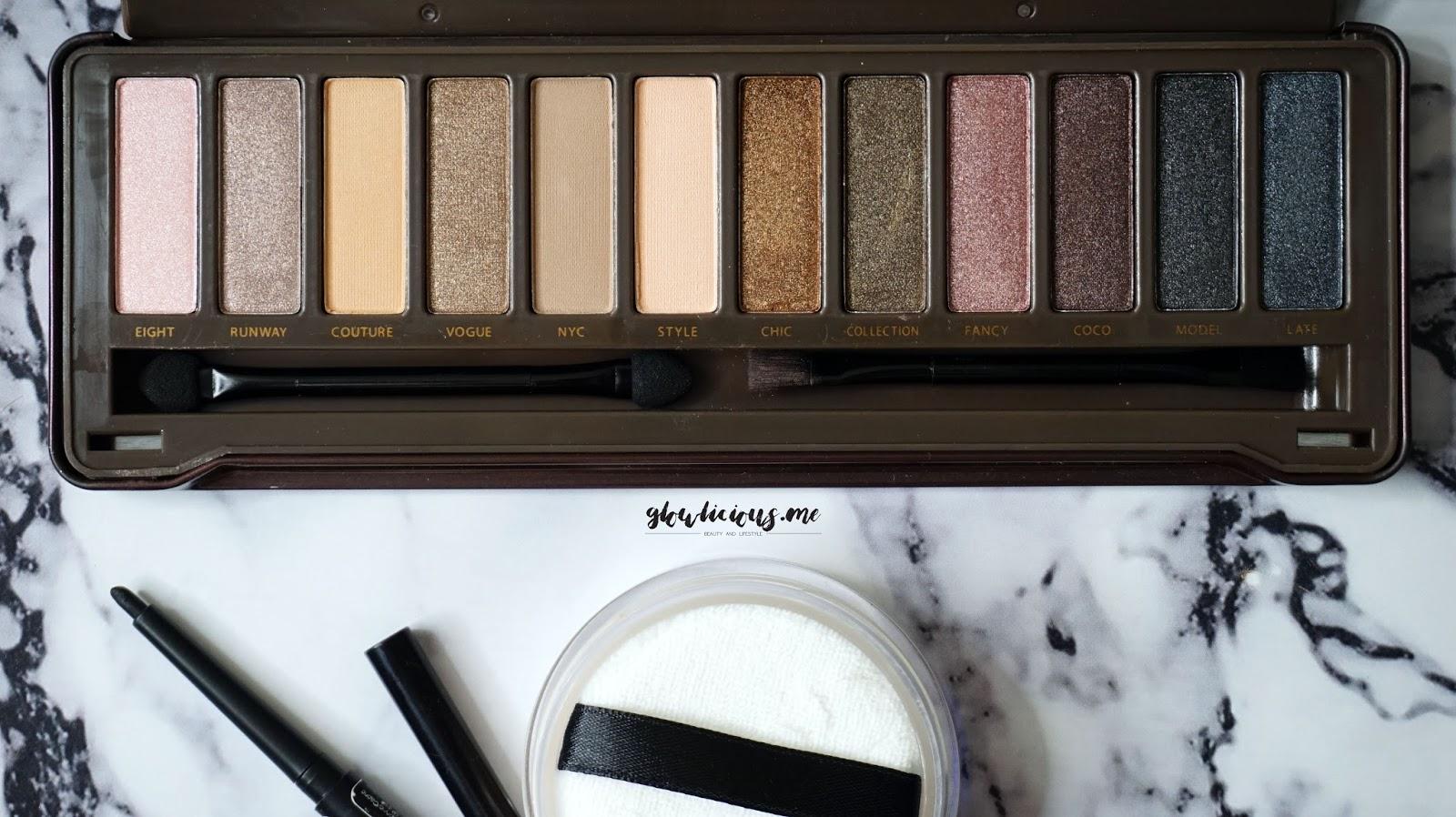 BYS Nude Eyeshadow Palette, dilengkapi dengan kaca dan 2 aplikator eyeshadow