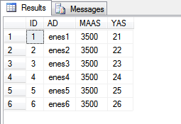 sql select null