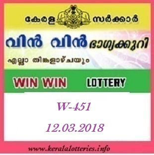WIN WIN (W-451) LOTTERY RESULT