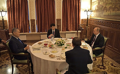 Informal dinner with Former Japanese Prime Minister Yoshiro Mori.