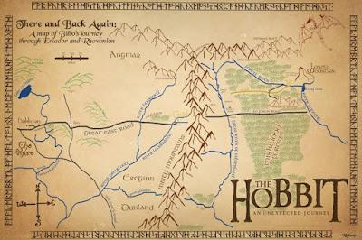Mapa del viaje de Bilbo en El Hobbit