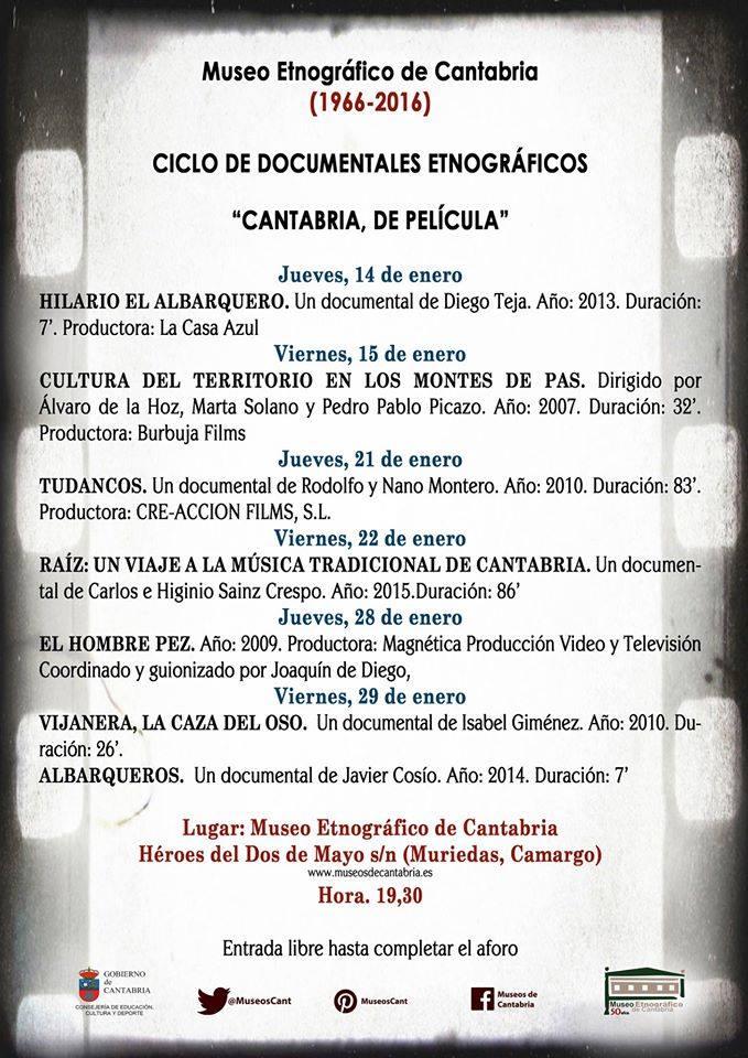 """Ciclo de documentales etnográficos: """"Cantabria de película"""""""