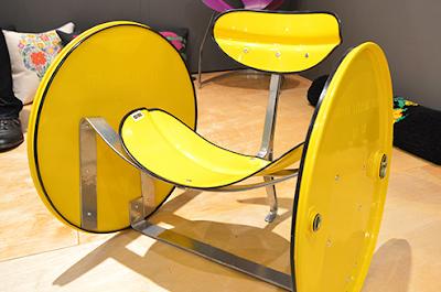 kursi santai unik dari drum