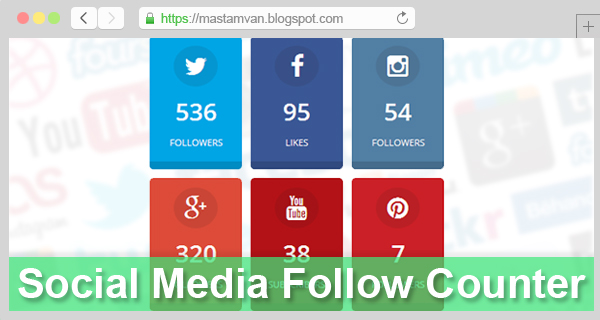Membuat Widget Social Media Follower Counter