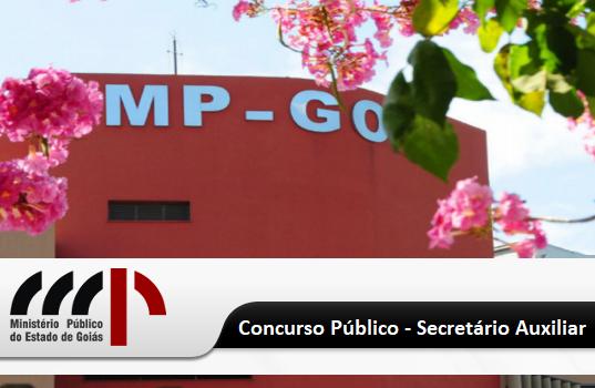 Concurso Público MPGO para o Cargo de Secretário Auxiliar