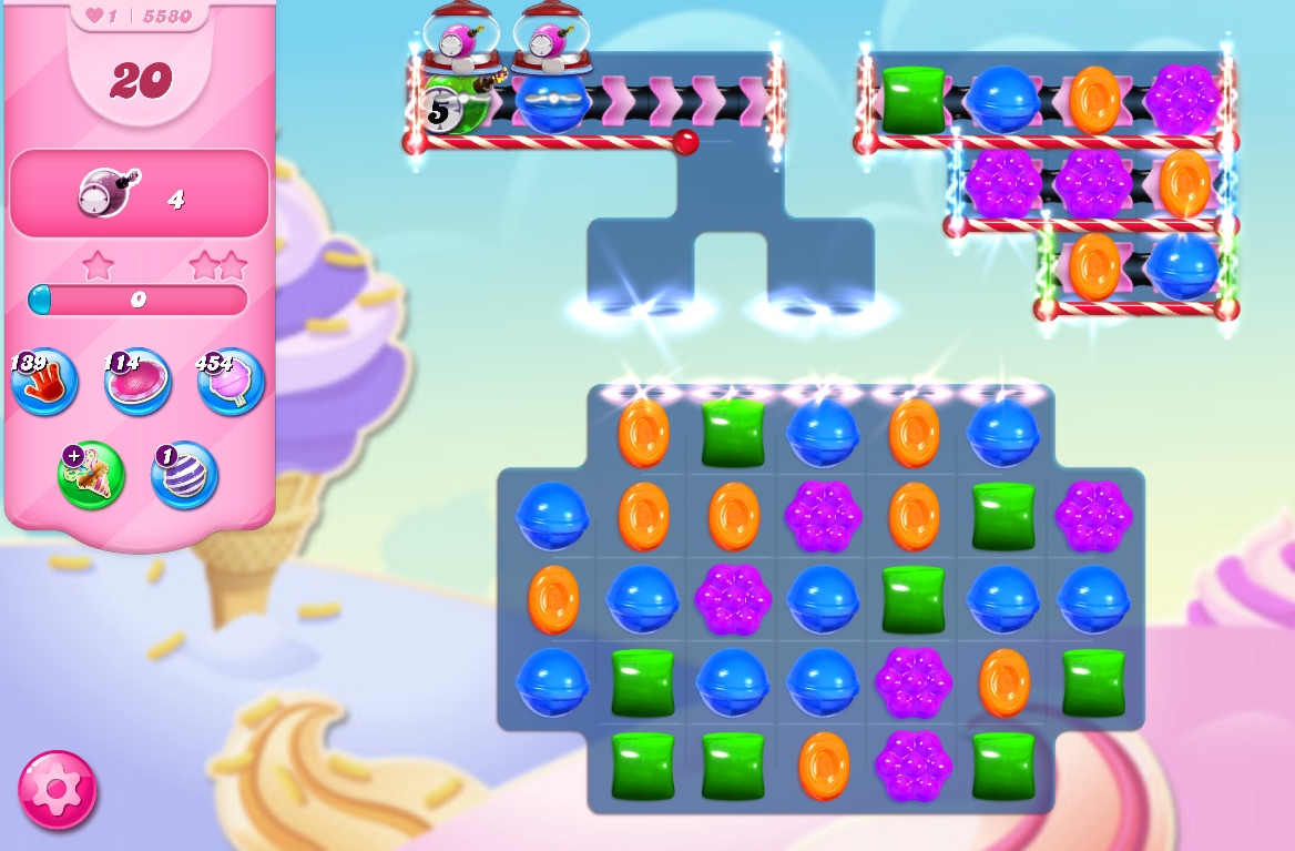 Candy Crush Saga level 5580